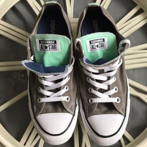 Converse Gray & Mint Double Tongue Sneakers